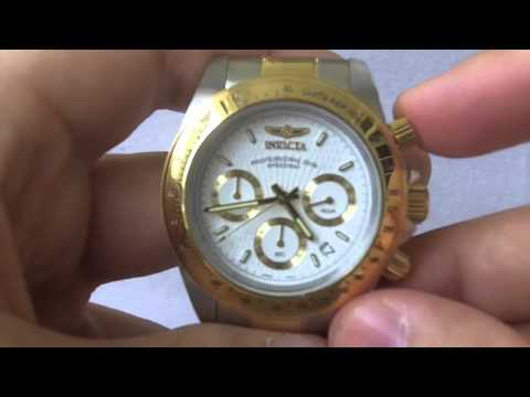 Invicta Watches - Men's 9212 Speedway Collection Chronograph S 23k Gold Watch