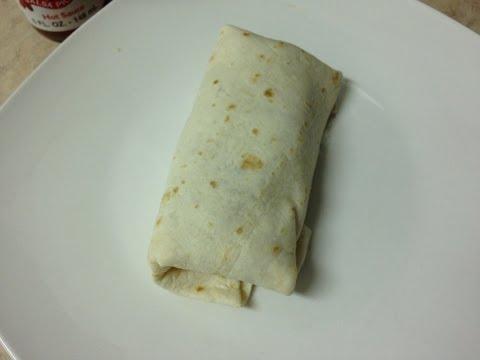 How to make high fiber high protein bean and cheese burrito