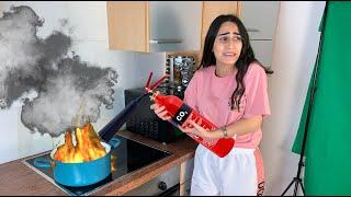 حريق في بيتنا | السبب صدمة 😳