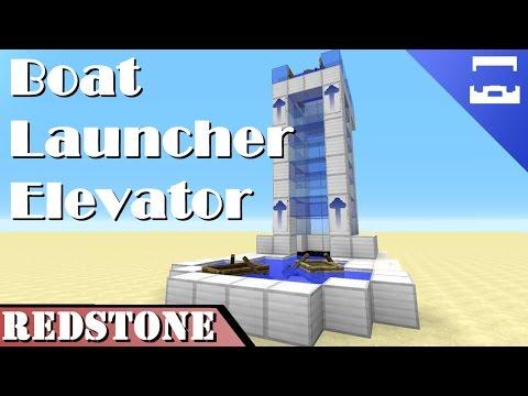 Boat Launcher Elevator | Minecraft Redstone Tutorial | 1.9