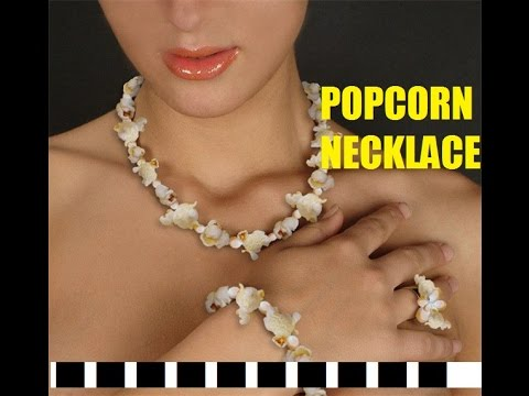 How To Make A Popcorn Necklace Garland