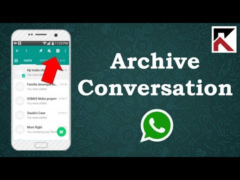 How To Archive A Conversation On WhatsApp Android 2018