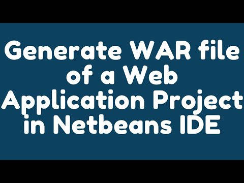 How to generate WAR file of a Web Application project in NetBeans IDE ?