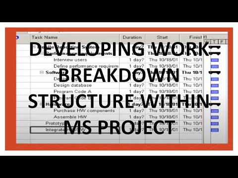 Creating Work Breakdown Structure in MS Project