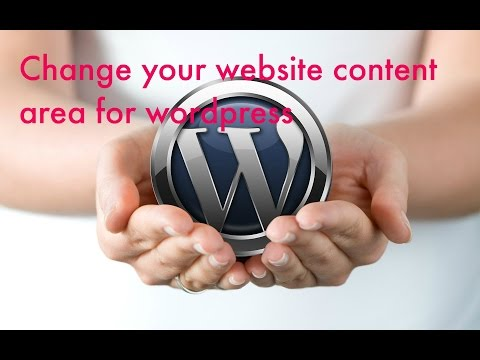 Change your wordpress content area width(easy and works)
