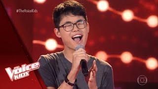 Pedro Ogata canta 'Chandelier' nas Audições às Cegas - The Voice Kids Brasil | 5ª Temporada