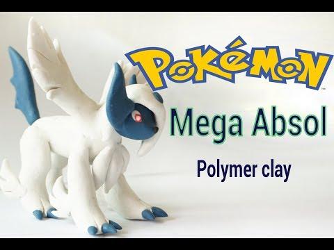Mega Absol Pokemon _ Polymer clay _ de Mega Absol plastilina _ tutorial