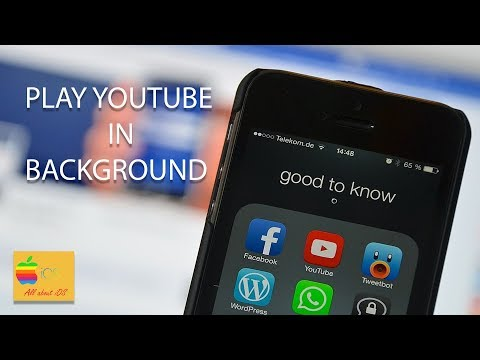 Play YouTube in background in iPhone