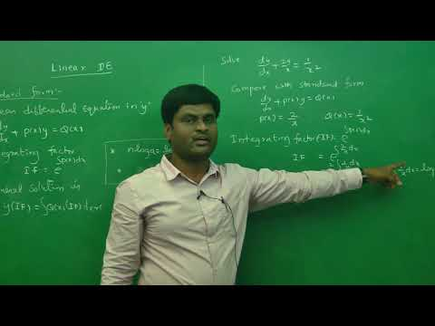Linear differential equation Example 1 : Best Engineering Mathematics Tips (AU,JNTU ,GATE,DU)