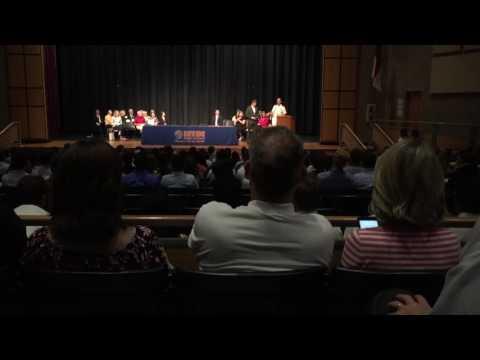 Nate's ROTC scholarship presentation