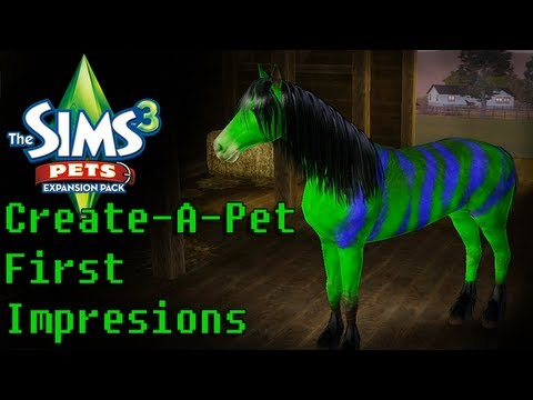 LGR - The Sims 3 Pets Create-A-Pet First Impressions