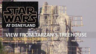 Disneyland - 2/6/18 Star Wars: Galaxy's Edge Construction view from Tarzan