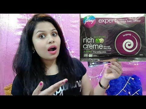 Godrej Expert Rich Cream Hair Colour Burgundy|| Review |No Ammonia | 100% Grey Coverage | Ps Perky