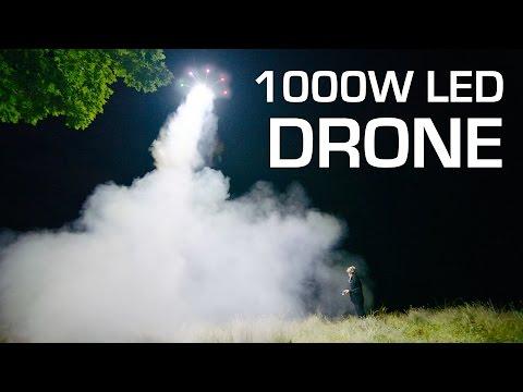 1000W LED on a DRONE - RCTESTFLIGHT