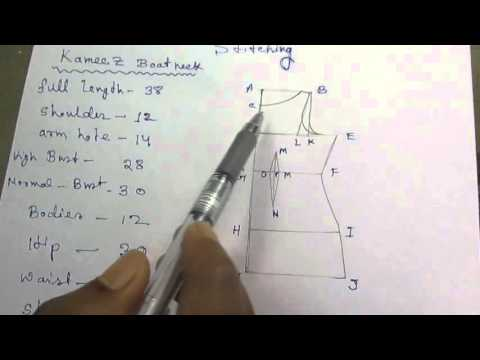 Kameez Drafting/Cutting and Stitching with formula part 1 of 7 hindi
