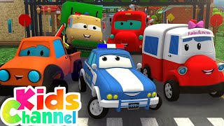 Finger Family Song - Road Rangers Car Cartoon Videos from Kids Channel