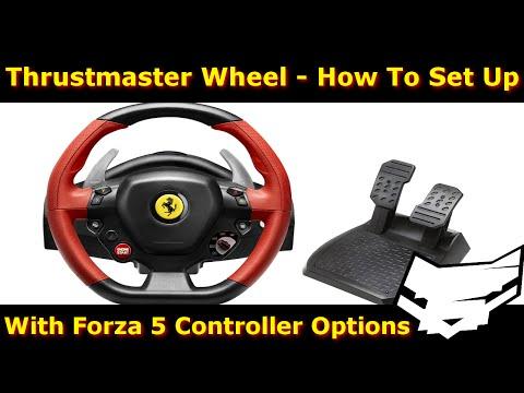 Thrustmaster Ferrari 458 Spider Wheel Setup + Forza 5 Settings