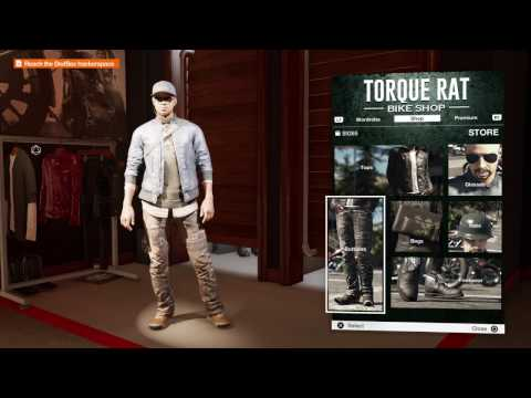 Watch Dogs 2 - The Morning After: Torque Rat Bike Shop (Buy New Pair of Pants at Clothing Shop) Pro