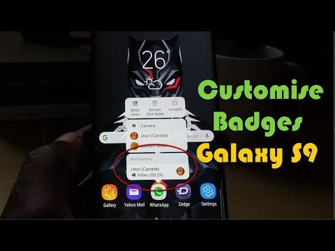 Customise App icon badges to Show Notifications and more Galaxy S8 and S9