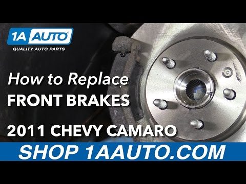 How to Install Replace Front Brake Pads and Rotors V6 3.6L 2011-14 Chevy Camaro