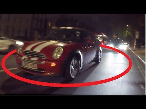 Mini Cooper on Stealth Mode - (Driving with No Lights).