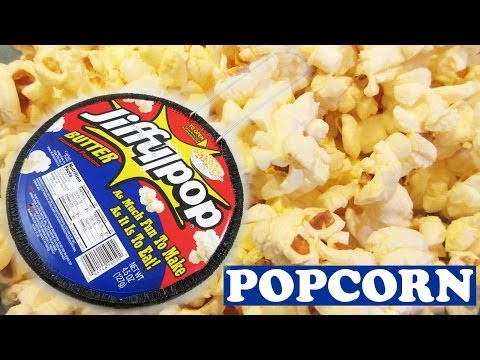 How To Cook Jiffy Pop Corn Popcorn - Butter Flavored Movie Snack - Easy Dessert Recipes - Jazevox
