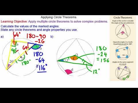 Applying Circle Theorems