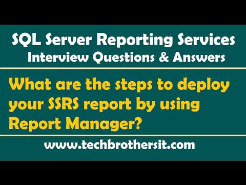 What are the steps to deploy your SSRS report by using Report Manager - SSRS Interview Questions