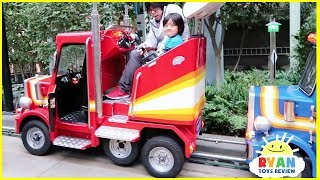 Indoor Amusement Park Rides for Kids with Ryan ToysReview