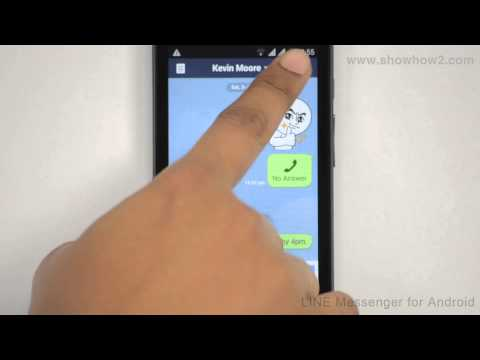 Line Messenger - How To Video Call A Line User