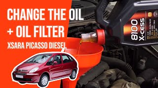 Change the oil and the oil filter XSARA PICASSO 1.6 HDI 🛢