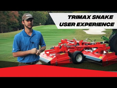 Watch The Incredible Trimax Snake High Quality Turf Mower.