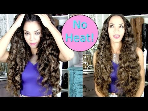 No Heat Curls Tutorial - Big Soft Curls WITHOUT Heat Hair Tutorial - NO ROLLERS