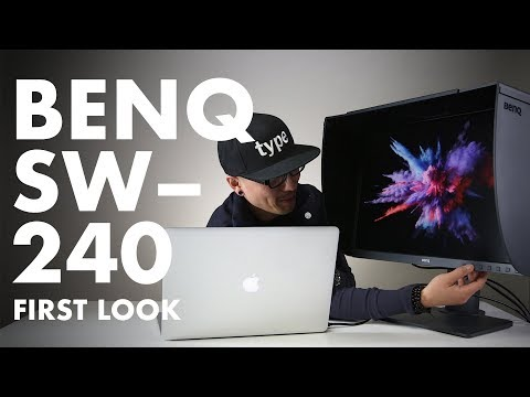 First Look & Unboxing BenQ SW240 10 bit monitor