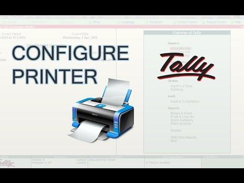 Tally ERP 9 : Configure Printer in Tally | Select Printer in Tally