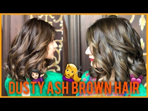 DARK to LIGHT DUSTY ASH BROWN | New hair color! | Anushae Says