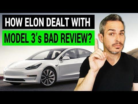 How Elon Musk Dealt with Tesla Model 3's Bad Review