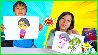 Download 3 Marker Challenge with Ryan vs Mommy!!! Video