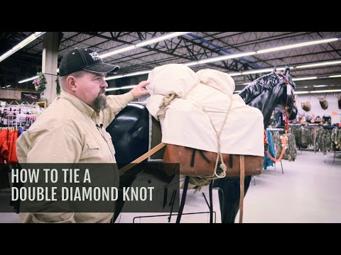 How to tie a Double Diamond Hitch