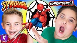 SPIDERMAN GIANT ADVENTURE! SKEE BALL, Cars + Kids Play Compilation HobbyKidsTV