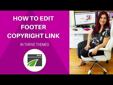 How to Edit Copyright Footer in Thrive Themes Wordpress Theme