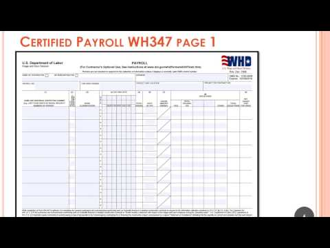 Concepts of Prevailing Wage and Certified Payroll