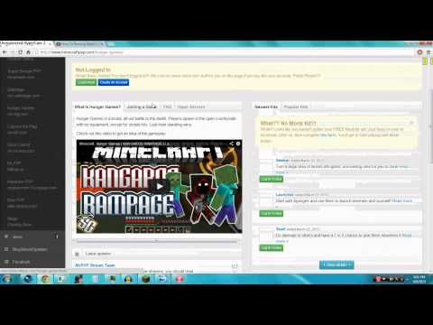 How To Join Minecraft Hunger Games [2013]  | Join Minecraft: Hunger Games Server Tutorial