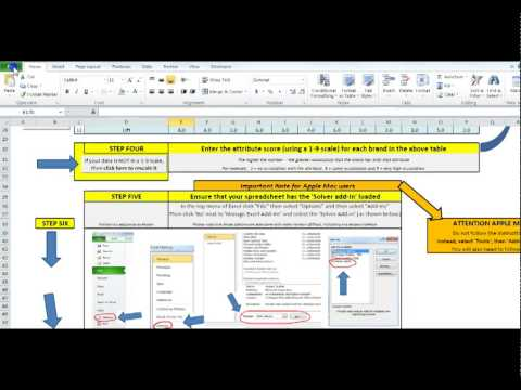 How to Use the MDS Perceptual Map Template