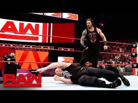 Xxx Mp4 Roman Reigns Unleashes On Brock Lesnar Before WrestleMania Raw April 2 2018 3gp Sex