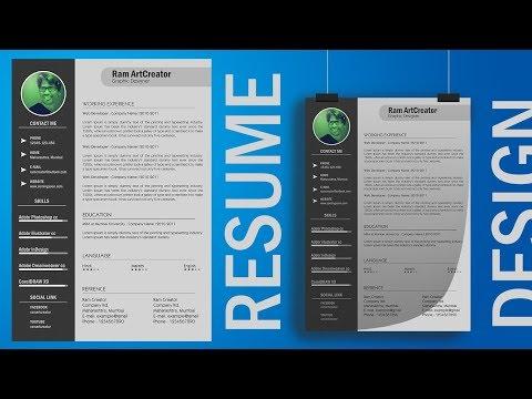 Resume Design l How to design Resume in Adobe Photoshop cc