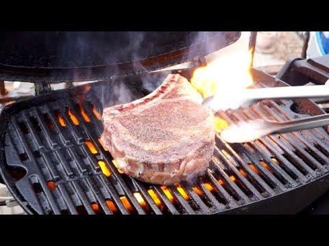 How to Grill a Killer Steak on the Weber Q... Rib Steak (aka: Bone-in Rib-eye)