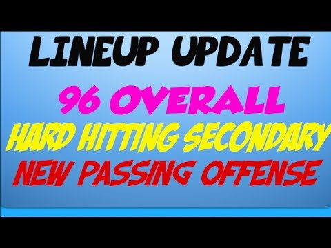 Madden 25 Ultimate Team - 96 Overall Lineup Update!  Skull Cracking Secondary+New Passing Offense!