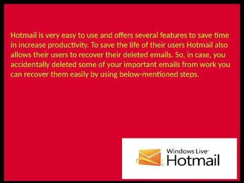What are the steps to recover your deleted email in Hotmail?