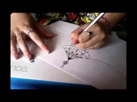Drawing a Sternum Tattoo Design | How To Tutorial